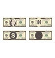 100 dollars banknote vector image