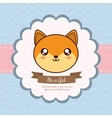 Kawaii fox Baby Shower design graphic vector image