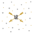 Happy valentines day card with arrow vector image
