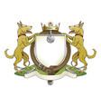 dog pets heraldic shield coat of arms vector image vector image