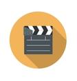 Flat Design Concept Cinema Slate Board Icon vector image