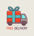 free delivery concept in flat style vector image vector image