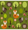 Forest with animals vector image