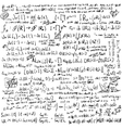 Math formula set vector image
