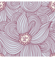 Doodle flower seamless pattern Floral textile vector image