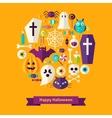 Flat Happy Halloween Concept vector image