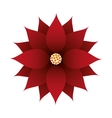 floral christmas decoration isolated icon vector image