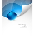 Tech background with sphere vector image vector image