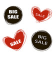 doodle sale tags sale banners set love shopping vector image