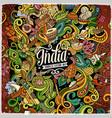 cartoon cute doodles hand drawn india vector image