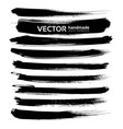 abstract black ink brush long strokes set isolated vector image vector image