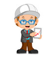 funny architect cartoon vector image