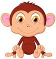Cute baby monkey cartoon vector image
