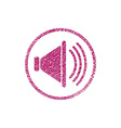 Loudspeaker icon with hand drawn lines texture vector image