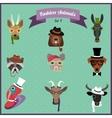 Fashion Hipster Animals set 4 vector image