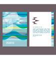 Flyer leaflet booklet layout Editable design vector image