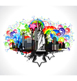 abstract urban background vector image vector image