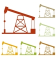 Oil drilling rig sign vector image