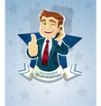 Cute successful businessman star poster vector image vector image
