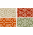 Seamless Winter Patterns vector image vector image