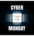 Cyber Monday sale banner template vector image