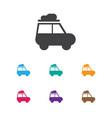 of travel symbol on caravan vector image