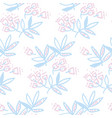 tropical leaves pattern on white background vector image