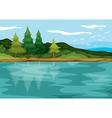 beautiful landscape vector image vector image