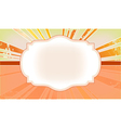The frame with the rays in the background vector image vector image
