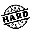 Hard rubber stamp vector image