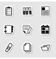 Document Office Icons as Labes vector image