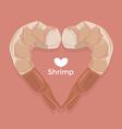 Love Shrimp vector image vector image