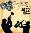 Jazz Music grunge background vector image vector image
