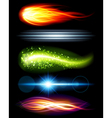 Abstract light beams vector image