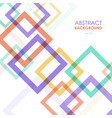 abstract transparent colorful frames background vector image