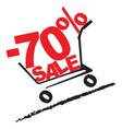 Big sale 70 percentage discount 2 vector image