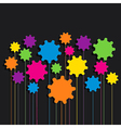 creative colorful gear patterndesign vector image