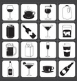 Drinks and Beverages Icon Collection vector image