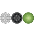 Geometric mandala for coloring book Black white vector image