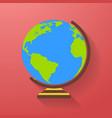 globe icon earth symbol vector image