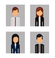 group businesspeople portrait set avatar vector image