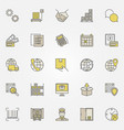logistic colorful icons collection vector image