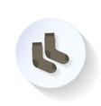 Socks flat icon vector image