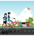 Students Cycling vector image