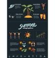 Summer infographics elements vector image