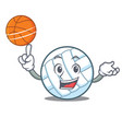 with basketball volley ball character cartoon vector image