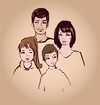 happy family portret vector image