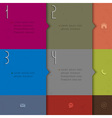 Paper background for design infographics vector image