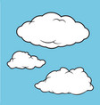 clouds puffy collection vector image vector image