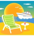 sea beach and yacht vector image